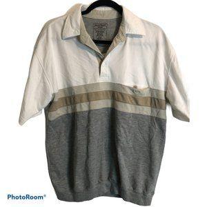 DAVID TAYLOR Polo Banded Bottom Shirt M